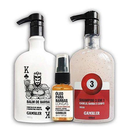 Kit Especial Cabelo Seco Barba Longa G