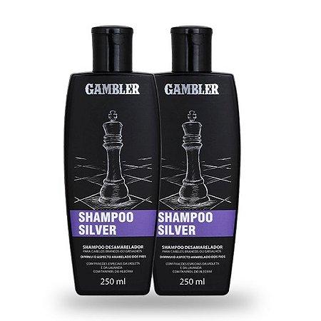 Kit com 2 Shampoos Desamareladores Silver para Grisalhos (2x250ml) - GRÁTIS Abridor de garrafa