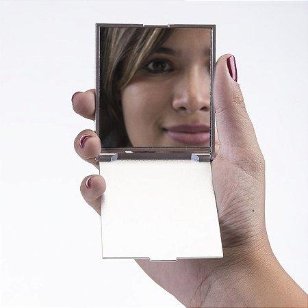 Espelho Plástico Retangular Frente e Verso Liso. Cód. 250