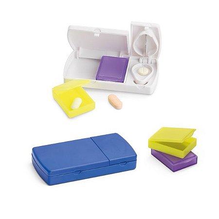 Porta comprimidos com cortante e 2 divisórias interiores extraíveis, código: SPCG94307