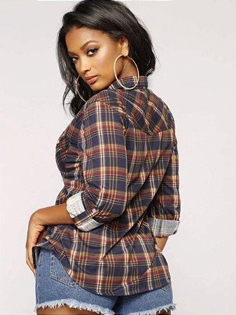 ddf18db2e Camisa xadrez feminina - CollectioN1 roupas femininas