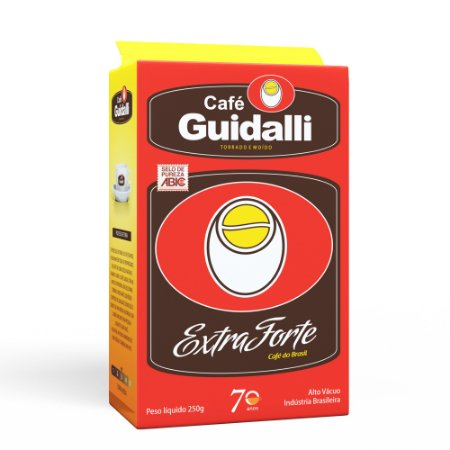 Café Guidalli Extra Forte 250g. Preço para pedido de 3 kgs.