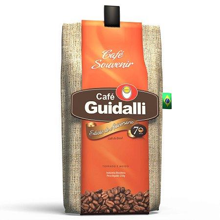 Café Guidalli Souvenir 250g. Preço para pedido de 5 kgs. Ganhe uma xícara pequena.