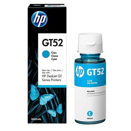 Refil de Tinta HP GT 52 | GT 5822 - Cyan | Azul - (M0H54AL) - Original