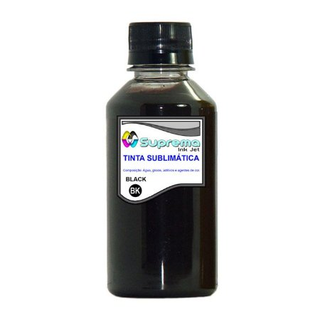 Tinta Sublimática Black para uso em Epson Ecotank e Bulk Ink - Suprema