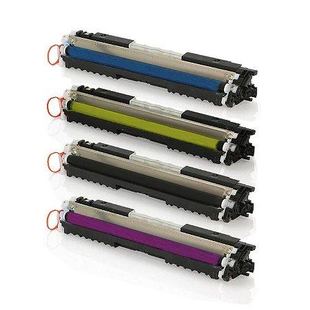 Kit 04 Toner Premium Compatível com Impressoras M176N | M177FW | CF350A | CF351A | CF352A | CF353A | 130A da HP