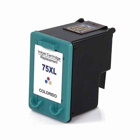 Cartucho de Tinta HP 75 XL | 75XL Color - HP Deskjet D4280, C4480, C5280, C5580, D5360