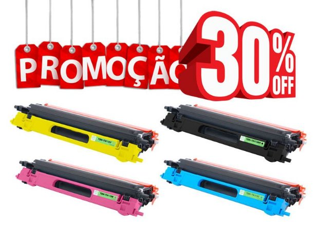 Kit 4 Toner Brother TN110 TN115   DCP-9040 HL-4040 HL-4070 MFC-9440 MFC-9840
