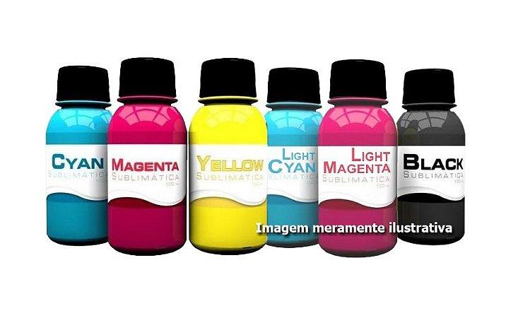 Kit 6 Tinta Sublimática para uso em Epson Ecotank e Bulk Ink