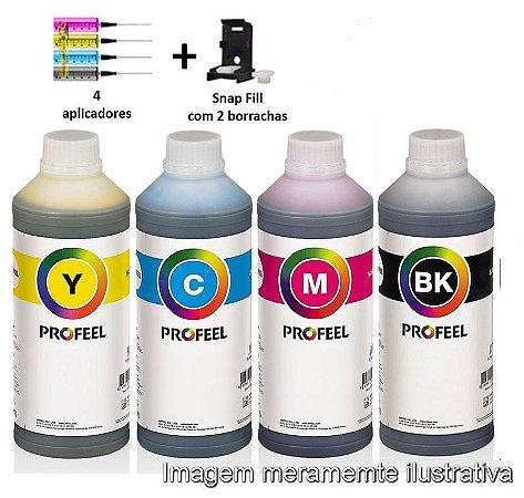Kit Tintas Profeel Cartuchos Canon TS-3110, MG-2410, MG-2510, MG-2910 - 400ml