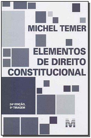 Elementos De Direito Constitucional - 24Ed - 5Tir/19
