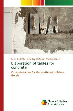 Concrete tables for the northeast of Minas Gerais