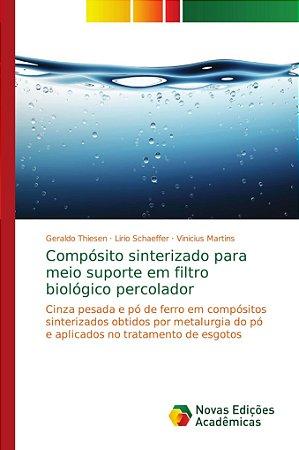 Compósito sinterizado para meio suporte em filtro biológico