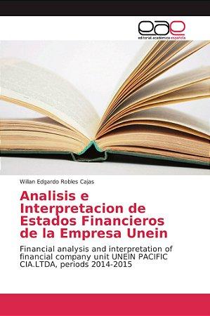Analisis e Interpretacion de Estados Financieros de la Empre