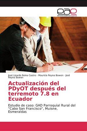 Actualización del PDyOT después del terremoto 7.8 en Ecuador