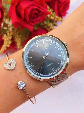 Relógio Blossom - Preto/Prata - Ref.: M2