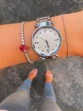 Relógio NEW PETITE - Prata- Ref.: M2