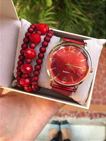 Relógio Glow - VERMELHO - Ref.: M1