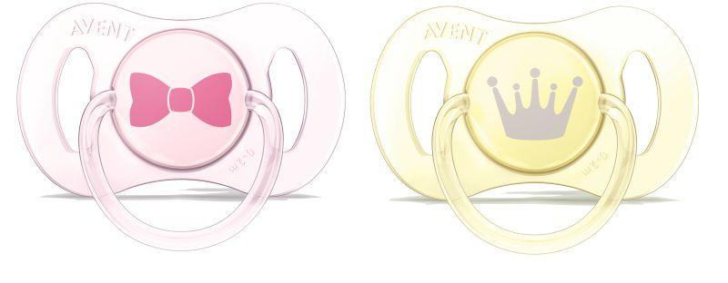 Mini Chupeta para Recém-Nascidos - Rosa e Amarelo - 2 unidades - Philips Avent