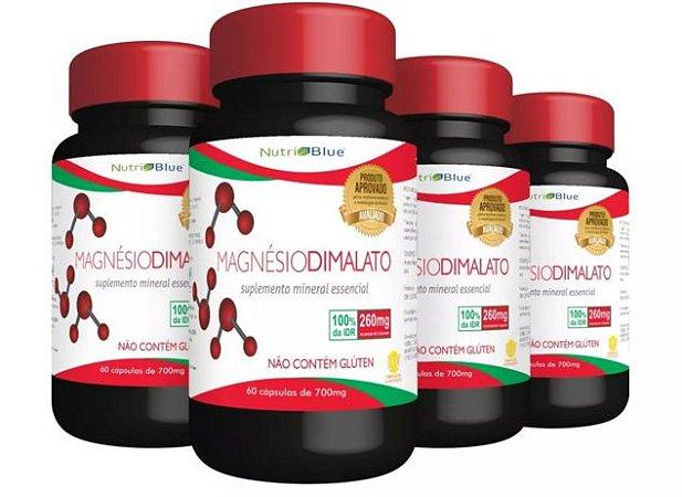 Magnésio Dimalato kit com 4 frascos