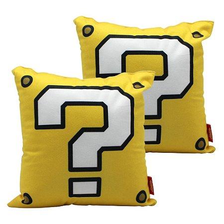 Almofada 25x25 Super Mario - Bloco Interrogação