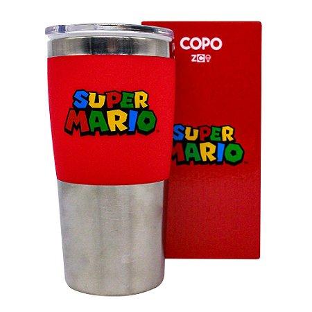 Copo para Viagem Max 450ml Super Mario - Logo