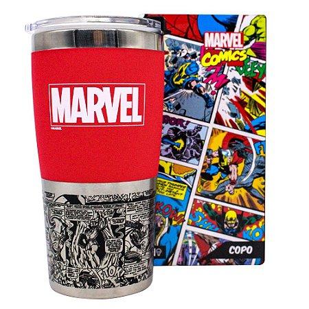 Copo para Viagem Max 450ml Marvel - Logo