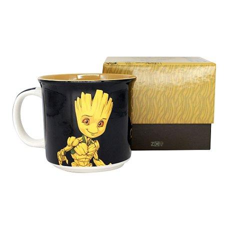 Caneca Tom 350ml Guardiões da Galáxia - Groot