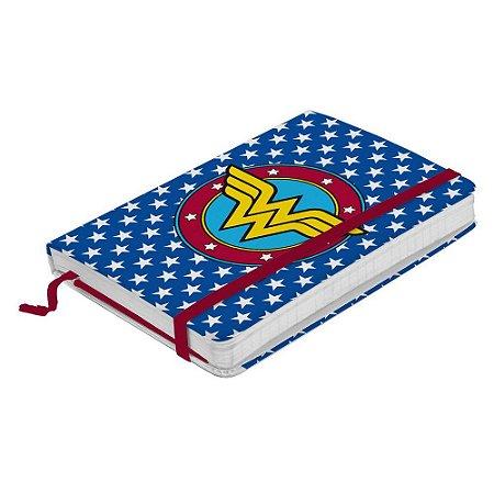 Caderno de Anotações Mulher Maravilha - Logo com Estrelas