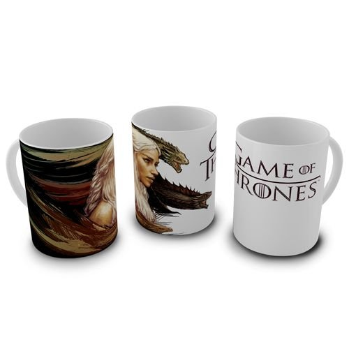 Caneca Game of Thrones - Daenerys Dragons