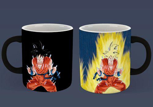 Caneca Mágica Reativa DBZ - Goku Super Sayajin