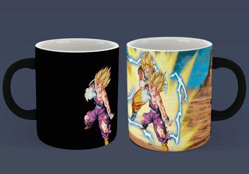 Caneca Mágica Reativa DBZ - Goku & Gohan Kamehameha