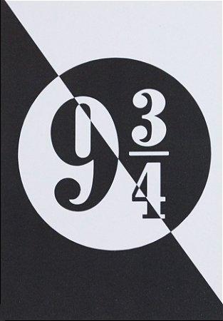Placa Decorativa Harry Potter - Plataforma 9 3/4