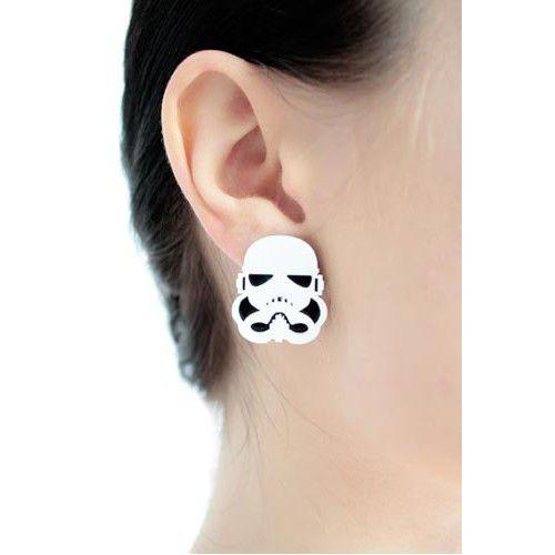 Brinco em Acrílico Star Wars - Storm Trooper