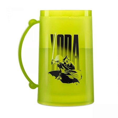 Caneco Congelável 390ml Star Wars - Yoda