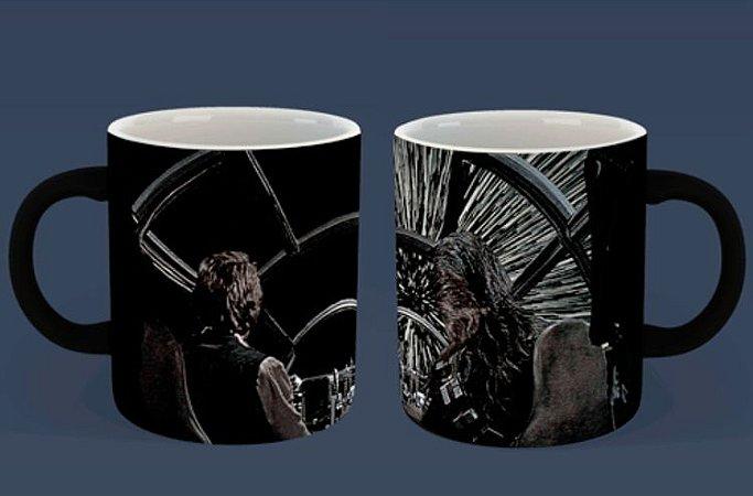 Caneca Mágica Reativa Star Wars - Hyper Space Millenium Falcon