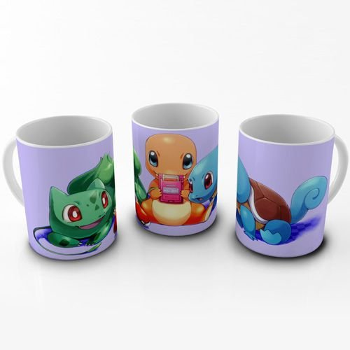 Caneca Pokemon - Pokemons Iniciais