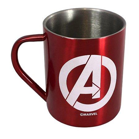 Caneca de Aço 400ml Avengers