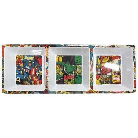 Petisqueira Retangular Marvel - HQ Colors