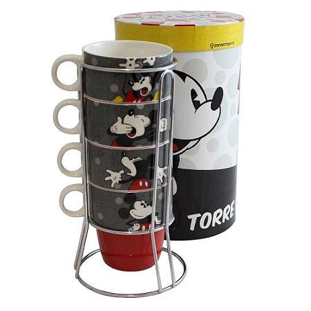Torre de Canecas Mickey - Ação