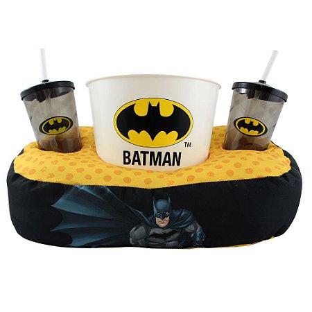 Kit Almofada de Pipoca e Copos Batman
