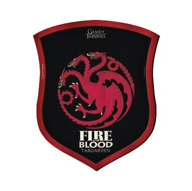 Placa Decorativa Escudo Game of Thrones - Targaryen House