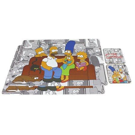 Kit Jogo Americano + Porta Copos Simpsons - HQ Família