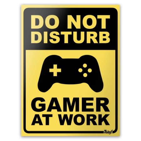 Placa Decorativa Do Not Disturb - Gamer at Work