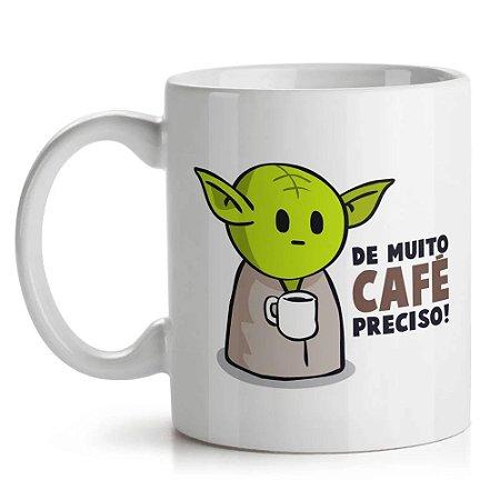 Caneca Star Wars - Yoda De Muito Café Preciso