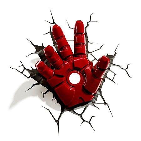 Luminária 3D Light FX Marvel - Mão Homem de Ferro