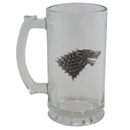 Caneca com Brasão de Metal 450ml Game Of Thrones - Stark