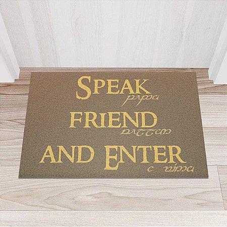 Capacho Vinil Senhor dos Anéis - Speak Friend and Enter