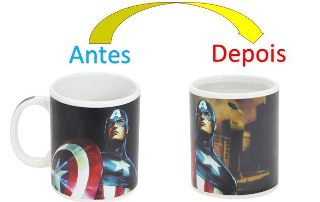 Caneca Mágica Reativa Marvel - Capitão América