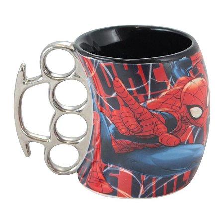 Caneca Soco Inglês 350ml Marvel - Homem Aranha